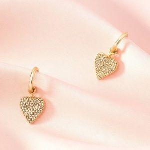 Stella and Dot Heart Earrings